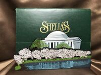 "RETIRED & RARE Shelia's Collectibles Wood ""JEFFERSON MEMORIAL"" Washington DC VG+"