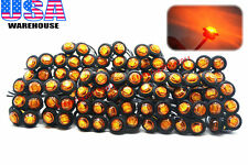 "100x 3/4"" Marker Light Triple Diode LED Truck Trailer Clearance Indicator Yellow"