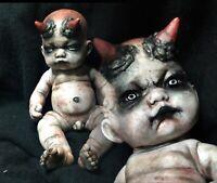 ¥ OOAK Scary Haunted Creepy Horror Gothic Occult Doll~ABBE¥S CREEP¥ DOLLS¥🌙