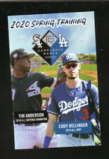 Los Angeles Dodgers--Chicago White Sox--2020 Spring Training Pocket Schedule