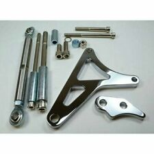 Ford 289-302 Alternator Bracket Kit - Chrome Aluminum