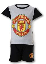 Manchester United Boys' 100% Cotton Pyjama Set Nightwear (2-16 Years)