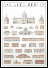 Il vecchio BERLINO poster stampa d'arte immagine nella cornice in alluminio 100x70 cm
