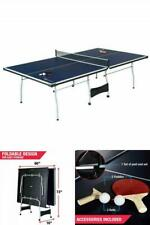 Official Size Ping Pong Table Tennis Indoor Foldable Paddles Balls Set Included