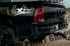 4x4 Truck Bed Decals, Black (Set) for Ford Super Duty, F-250 etc.