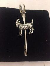 "Goat R165 Pewter Emblem Kilt Pin Scarf or Brooch 3"" 7.5 cm"