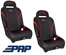 PRP Suspension Rear Seat - Black / Red Pair 14-17 Polaris RZR XP 1000 & Turbo