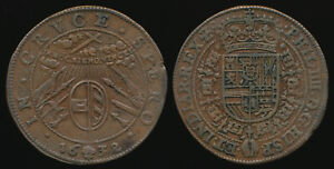++SCARCE++ 1632 KING PHILIP IV JETON > EX FAMED H.D. GIBBS COLLECTION > NO RSRV