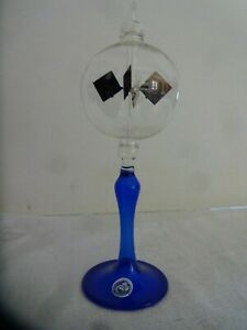 SOLAR RADIOMETER, CROOKES, LIGHTMILL - Clear globe, Cobalt Blue stem, Petite
