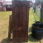 "c1870 gothic style chestnut cabinet door 65.75 x 25.25 x 1.25"" original varnish"