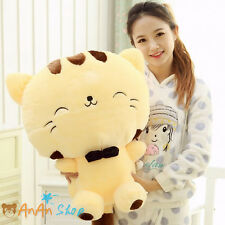 Free Shipping New 60cm Plush Big Face Cat Nice Bowknot Stuffed Soft Toy 2 Colors