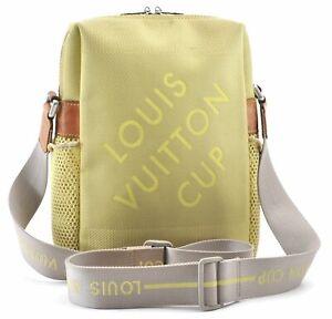 Louis Vuitton Cup Damier Jean Weatherly Shoulder Cross Bag M80636 Yellow D9589