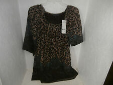 Elementz Women's Dress Leopard /Brown/Aqua Size Small New !!!