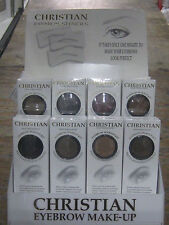 1 PIECE CHRISTIAN SEMI PERMANENT EYEBROW MAKEUP KIT EYE BROW SHADOW NEW ( BROWN