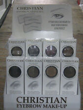 1 PIECE CHRISTIAN SEMI PERMANENT EYEBROW MAKEUP KIT EYE BROW SHADOW NEW BROWN