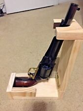 Folding Pine Walker-Colt Revolver/Pistol Loading Stand