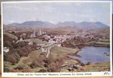 Irish Postcard CLIFDEN and the TWELVE PINS Connemara Galway Ireland PC Deluxe 80