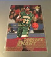 LEBRON JAMES ROOKIE 2003-2004 UPPER DECK LEBRON'S DIARY HIGH SCHOOL ROOKIE #LJ2