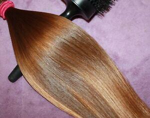 HUMAN HAIR HAIRCUT 13 IN 2.4oz VERY BABYFINE WARM GOLDEN BLENDS PONYTAIL G39