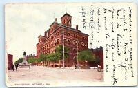 1905 Post Office Atlanta Georgia Old Street Town View Vintage Postcard D08
