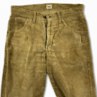 Lee Cooper Men's Brown Cord Jeans Size W32 L30 Relaxed Fit Corduroy Jeans