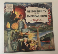 1954 Recording 78 rpm The Responsibility of the American Home REV Billy Graham