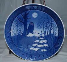 Royal Copenhagen Owl Winter Twilight Plate 1974 Kai Lange