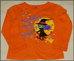 Infant & Toddlers Halloween Long Sleeve T-Shirt: 12M-18M-24M