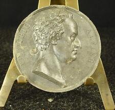 Médaille grès XIX  Le conte Vittorio Amedeo Alfieri  poète i par Domard Medal