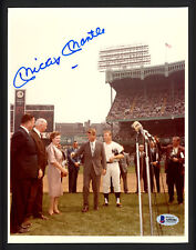 Mickey Mantle Autographed Signed 8x10.5 Photo New York Yankees Beckett A59201