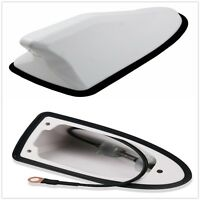 Universal 1 Pcs White Car Roof Shark Fin Shape Antenna Radio Signal Aerial AM/FM