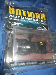 EAGLEMOSS Figure/Magazine #1 AUTOMOBILIA Batman/Batmobile Movie MICHAEL KEATON