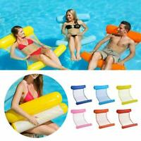 Swimming Inflatable Floating Float Water Hammock Pool Lounge Bed Chair Summer