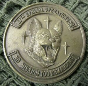 US AIR FORCE USAF 17TH SPECIAL OPERATIONS SQUADRON CHALLENGE COIN #6.