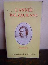 L'année Balzacienne - Nouvelle série - GARNIER FRERES - 381 pages - 1980