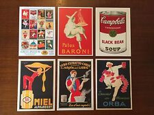 FOOD EATING THEME VINTAGE SET OF 20 RETRO POSTCARDS -UNIQUE COLLECTORS EDITION