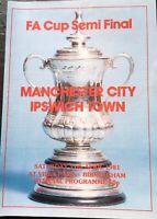 MANCHESTER CITY V IPSWICH TOWN FA CUP SEMI FINAL 1980/81