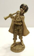 "Vintage Fontanini Style 5"" Tall Man Playing Horn Marked Italy"