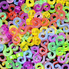 100Pcs Colourful S-Clips For Loom Kit Rubber Bands Bracelet Kids Making DIY New
