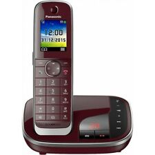 Panasonic KX-TGJ320GR Weinrot DECT Schnurlostelefon analog Festnetz-Telefon