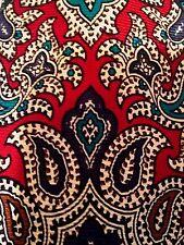 Vintage Burberrys of London Necktie Tie Floral Paisley Pattern Hand Sewn Silk