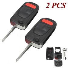 2x For 2004-2008 Chrysler Crossfire Folding Flip Entry Remote Key Fob Case Shell