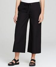 NWT The Eileen Fisher Project Drawstring Wide Leg Cropped Pant in Black Size XS
