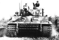 7x5 Lucido Foto ww45F5 Guerra Mondiale 2 II WW2 Guerra Foto Tigre Serbatoio 2