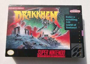 DRAKKHEN RPG Boxed Super Nintendo SNES NTSC USA Excellent collectors condition