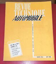 * RTA revue technique automobile 179 mars 1961 fiat 500 citroen 2ch