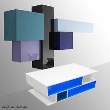 High-gloss LED Lighting Coffee Table Living Room TV Stand Furniture Shelf Unit