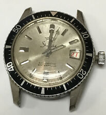 VINTAGE SHEFFIELD AUTOMATIC DIVER MEN'S WATCH SWISS DAY DATE SHOCK RESISTANT