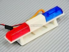 1/10 RC CAR POLICE CAR LIGHTS SQUARE FLASHING RED/BLUE