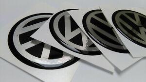4x 55mm Passend für VW Volkswagen Aufkleber Raddeckel Felgen Radkappen  Emblem